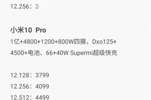 """小米2020年机皇之位""""派将出征"""":小米10与小米10 Pro将一同发布"""