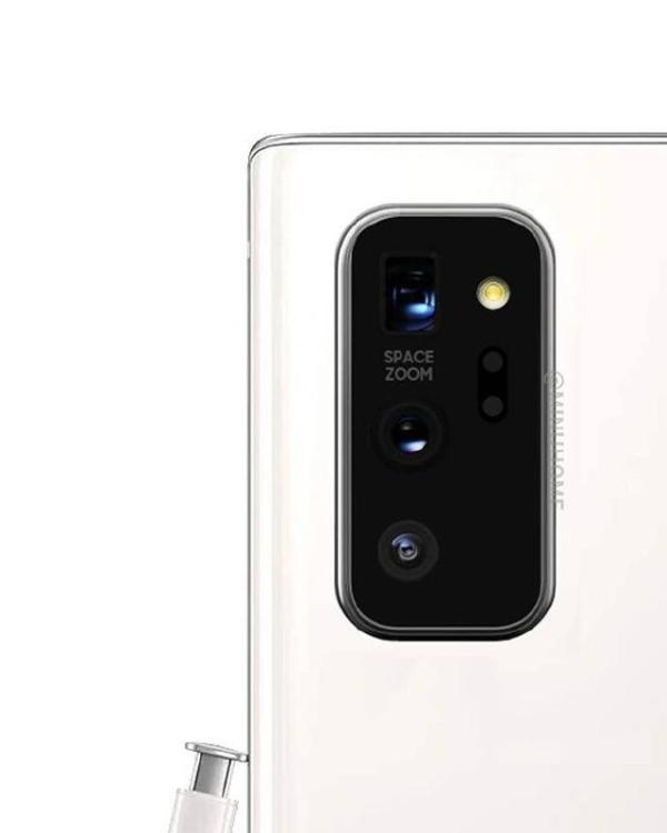 三星Galaxy Note 20外观首曝,居中挖孔+矩阵三摄