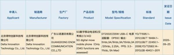 坚果5G新机将至 或命名为坚果R2 支持55W快充