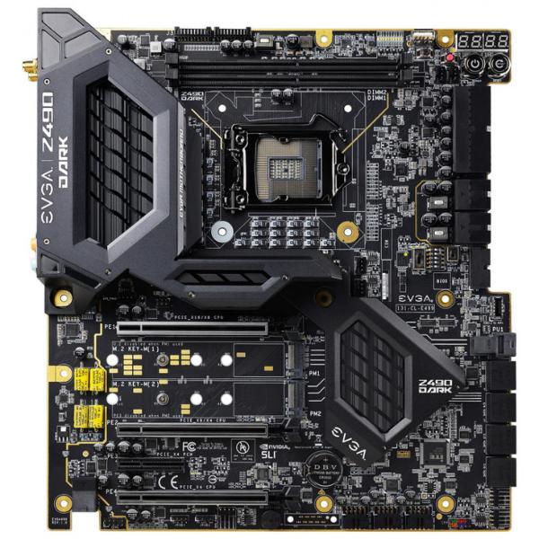 EVGA旗舰Z490主板 内存插槽位于CPU上方