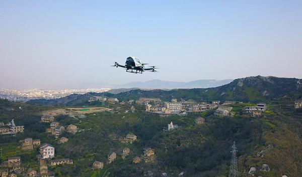 物流新神器诞生!亿航智能发布大载重自动驾驶飞行器