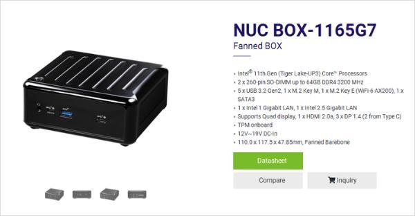 搭载11代酷睿 华擎推出NUC 1100 BOX