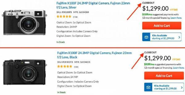 人气APS-C画幅便携相机 富士X100F停产