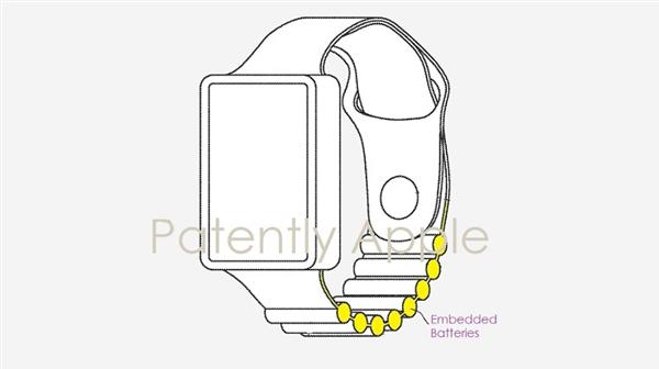 Apple Watch电池表带专利曝光,智能手表续航问题有了新的解决办法