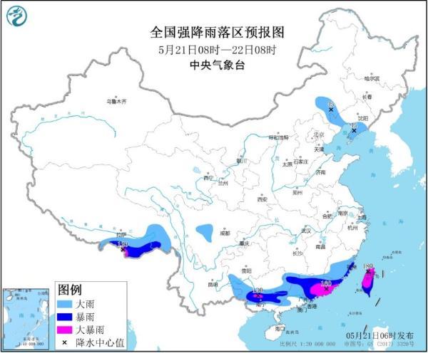 暴雨黄色预警 广西广东等地部分地区有大暴雨