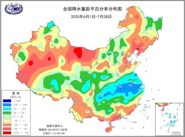 6月以来南方降水量为1961年以来同期第二多 部分流域降水明显偏多