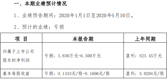 张家界:预计上半年亏损5800万元至6500万元