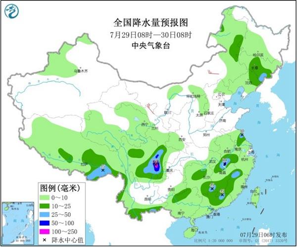 长江流域开启炎热少雨模式 华北东北多雷雨
