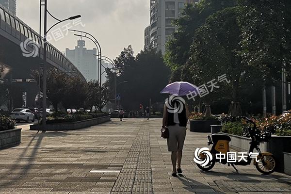 """重庆今明高温再现最高气温或达38℃ 后天雨水来""""灭火"""""""