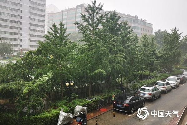 107毫米!北京四元桥出现大暴雨 降雨将持续到20时晚高峰压力