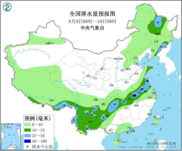 周末强降雨范围缩减 南方大范围高温持续