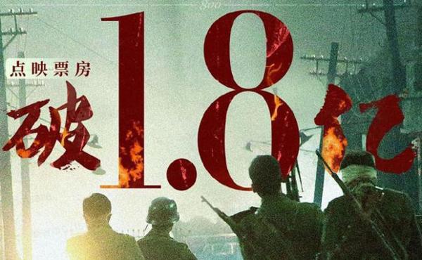 电影《八佰》点映票房破1.8亿,创中国电影市场点映票房最高纪录
