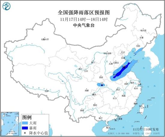 暴雨蓝色预警继续!河南山东重庆等地局地有暴雨