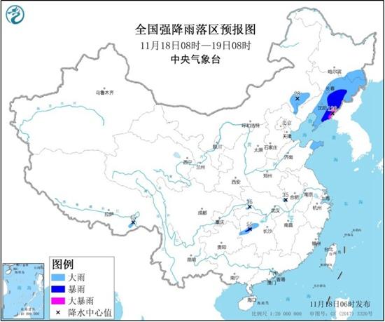 暴雨预警继续!全国五省区有大到暴雨 辽宁局地有大暴雨