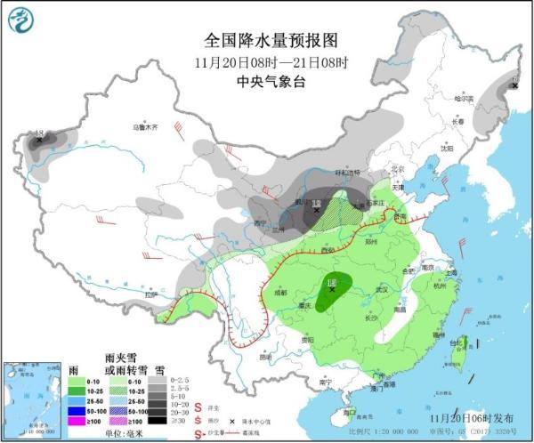 今起新一轮雨雪降温来袭 江南及以北地区气温持续走低