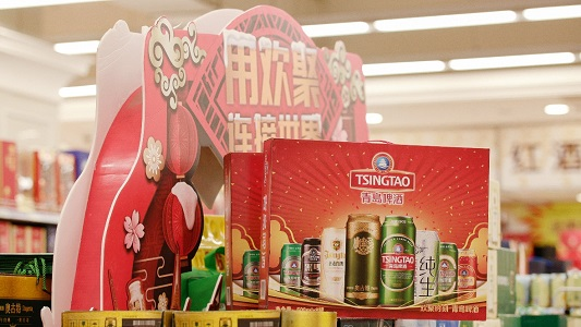 """中华老字号故宫过大年 青岛啤酒""""现身""""紫禁城"""