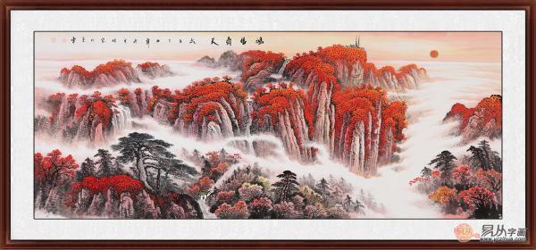 客厅墙上挂画山水画,大气旺财传承千年艺术文化
