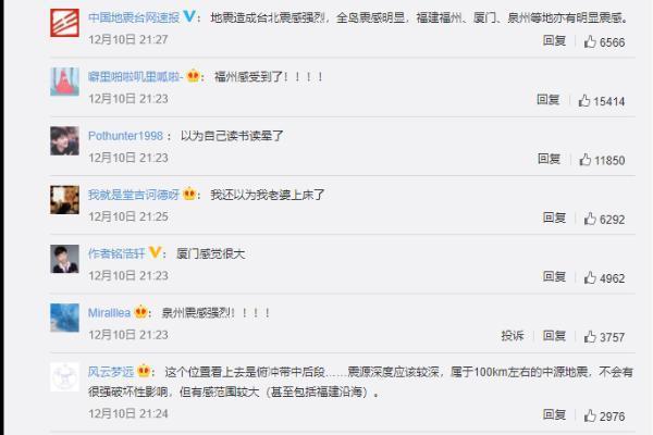 台湾宜兰县海域发生5.8级地震,福建厦门等多地震感明显