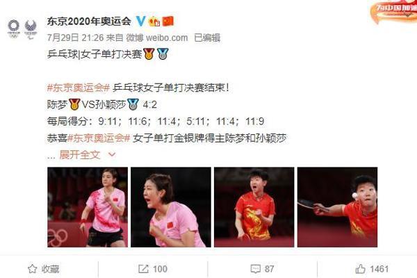 陈梦夺得奥运会乒乓球单打冠军,赛后约黄晓明回青岛聚一聚