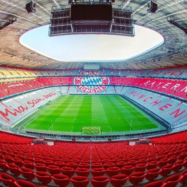 美!欧洲杯球场巡礼之安联球场