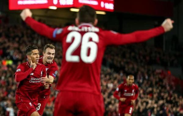 欧冠 利物浦4:0红星C组登顶