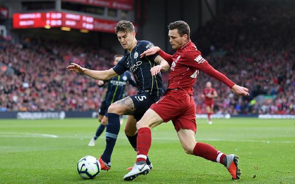 米尔纳伤退马赫雷斯失点 利物浦主场0-0曼城