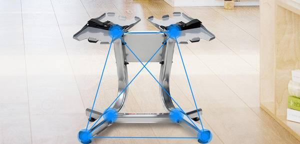 搏飞哑铃支架,空间小、高度好,精钢质造,安全更高效!