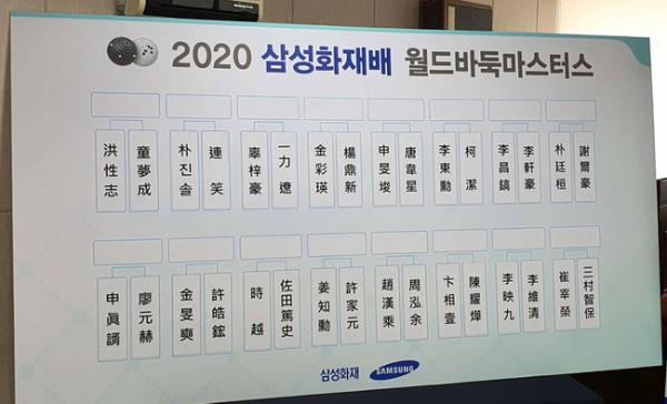 2020三星杯首轮对阵:唐韦星VS申旻埈 柯洁VS李东勋