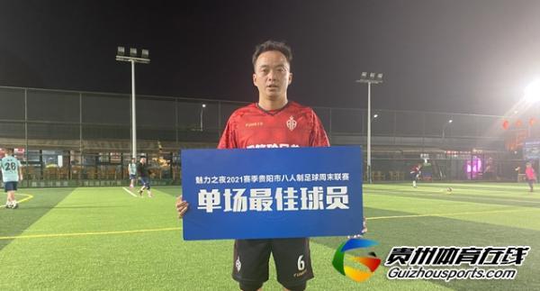 魅力之夜2021赛季贵阳市八人制周末联赛 钢筋砼兄弟3-0蹴鞠
