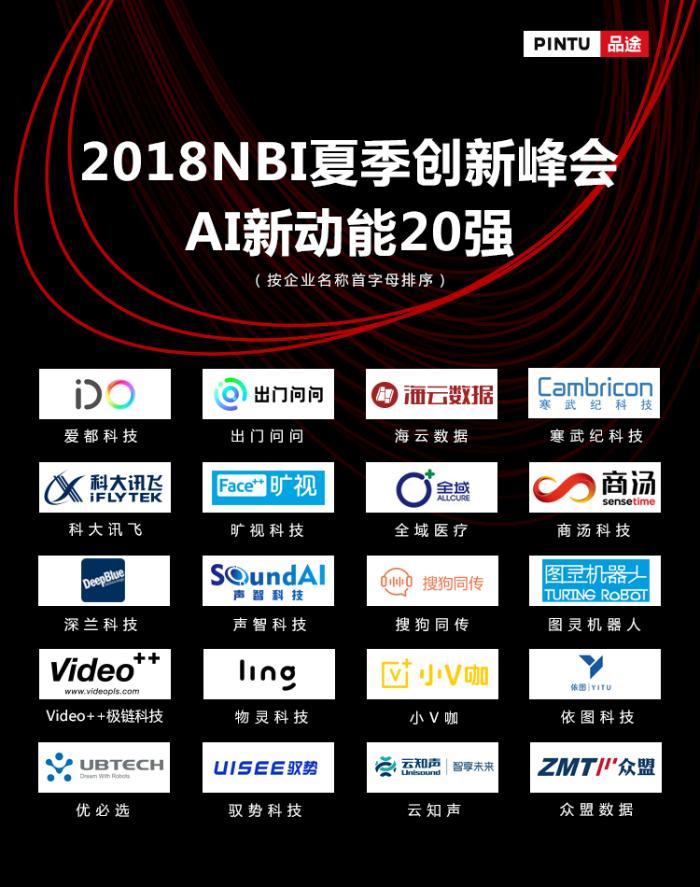 品途集团2018NBI夏季创新峰会发布零售消费、AI新动能、企业服务创新榜单,数字化正考验未来的竞争