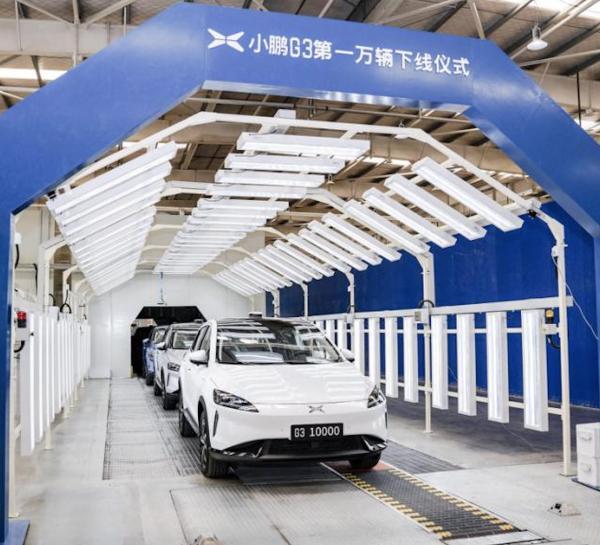 第一万辆小鹏G3汽车下线,小鹏P7年末上市