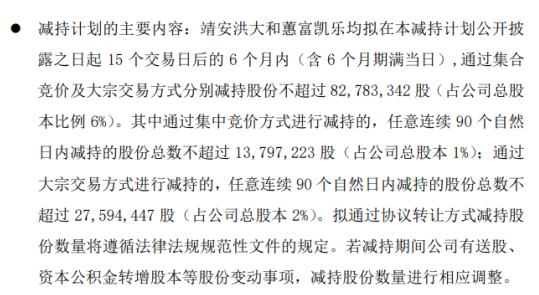 明阳智能2名股东拟减持股份 预计合计减持不超总股本6%