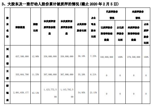 天茂集团股东新理益质押2001万股 用于补充质押
