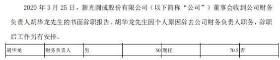 ST新光财务负责人胡华辞职 2018年薪酬为71万元