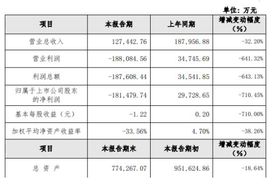 新研股份2019年亏损18.15亿 财务费用增加较多