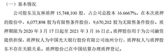 均益股份控股股东吴友林质押1574.81万股 用于融资提供担保