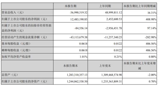 北京君正2020年一季度净利1248.32万增长408.98% 公司收到政府补助有所增长
