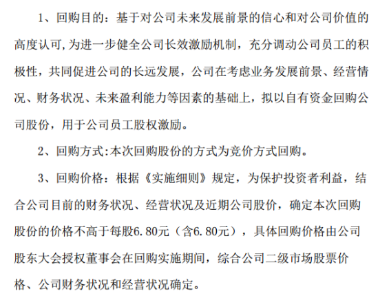 华清飞扬将花不超过330万元回购公司股份 用于公司员工股权激励