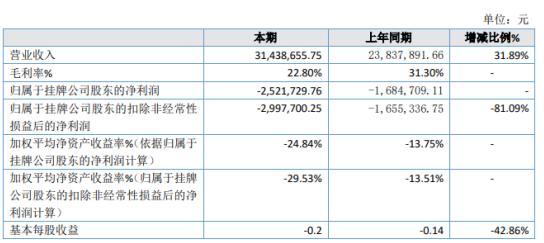 稳亮股份2019年亏损252.17万亏损增加 销售人员薪酬、差旅费及运费增加