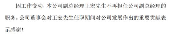 长江电力副总经理王宏辞职2019年薪酬为70.28万元