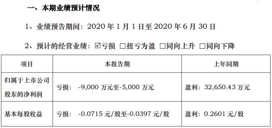 智度股份2020年上半年预计亏损5000万元-9000万元 较上年同期由盈转亏