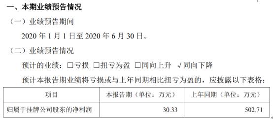 徽电科技2020年上半年预计净利30.33万同比下滑 业务规模持续收缩