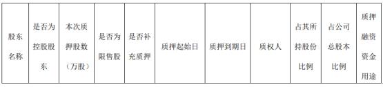 九鼎投资股东中江集团质押1亿股 用于偿还债务