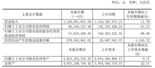 安正时尚2020年上半年净利8954.95万减少53.43% 营业成本增加及毛利率降低