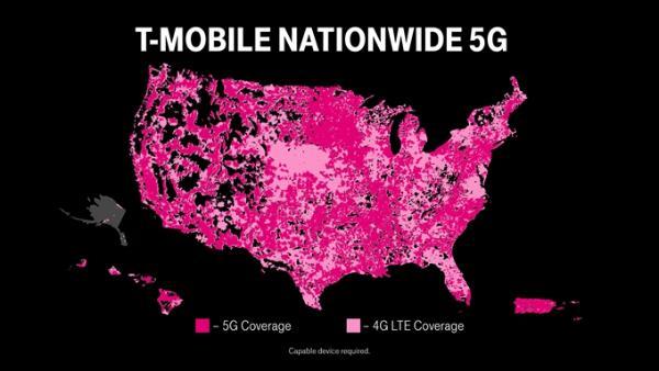 T-Mobile US宣布推出全国性5G SA网络