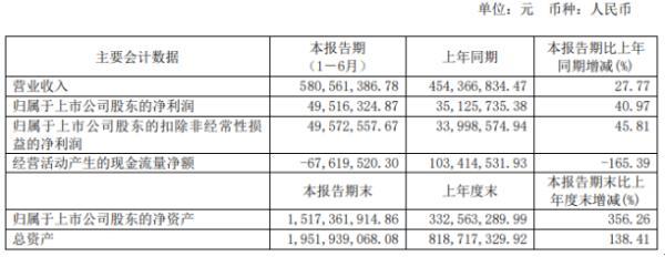 南新制药2020年上半年净利4951.63万增长40.97% 销售额增加