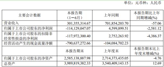 正源股份2020年上半年亏损1.14亿同比由盈转亏 产品订单和销量下降