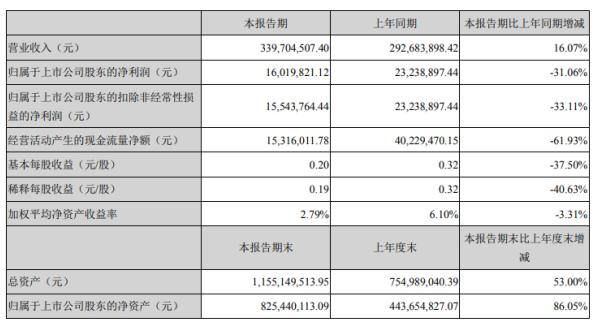 朝阳科技2020年上半年净利1601.98万下滑31.06% 国际贸易和投资大幅下滑
