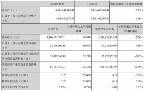 新朋股份2020年前三季度净利8724.46万增长9.56% 其他收益较上年同期增加