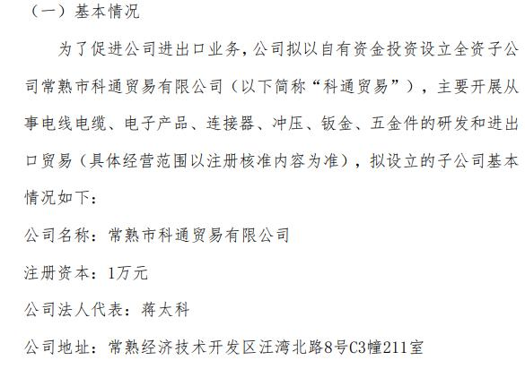 景弘盛拟以自有资金投资设立全资子公司 注册资本为1万元